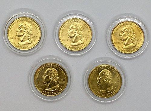 - NewLink 1999 Gold-Layered Statehood Quarters Set, Denver Mint