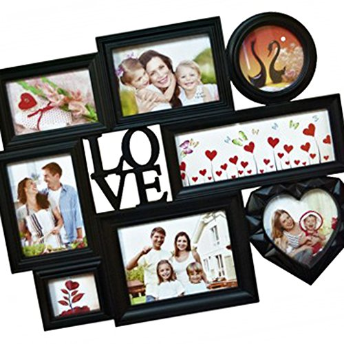 SALE Top Unique Best Love 8 Section DIY Personalized Photo Collage Picture Frame Set Quirky Weird Creative Christmas Stocking Stuffer Gift Idea for Sale Women Teen Girl Her Grandparent Family