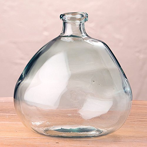 Clear Askew Recycled Glass Balloon Vase, 9