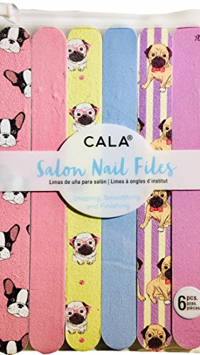 CALA Salon Nail Files ~ Frenchie & Pug Puppy Dogs