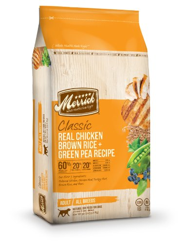Merrick Classic 30-Pound Adult Real Chicken, Brown Rice and Green Pea Dog Food, 1 Bag, My Pet Supplies