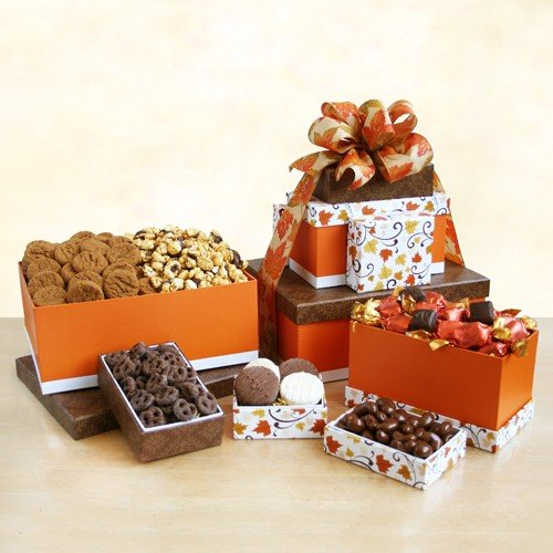 Autumn Sweets Gift Tower | Godiva Chocolate, Gourmet Popcorn and (Godiva Halloween)