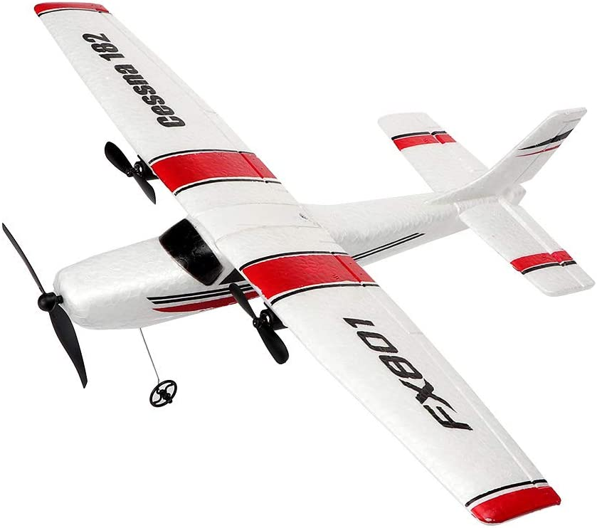 YSTFLY 2.4GHz 2CH DIY EPP RC Plane Outdoor RTF Ready to Fly Remote Control Gliding Aircraft Model,with 2 extra batteries