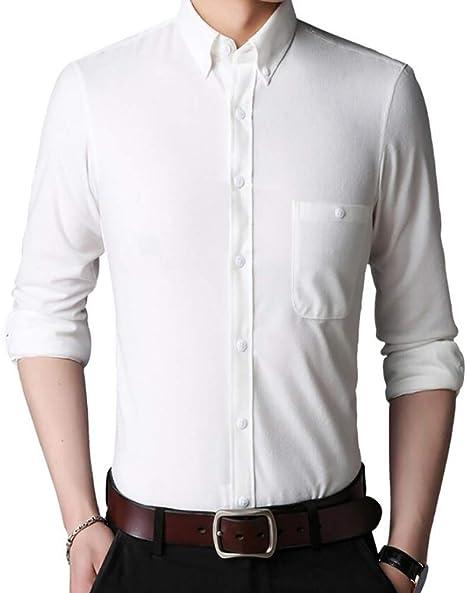 Camisa de Pana de los Hombres, Otoño Invierno Casual Manga ...