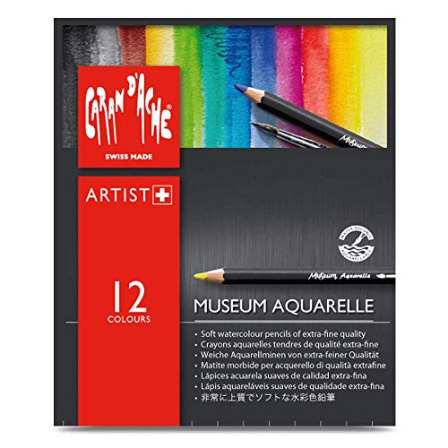 Caran D'ache Museum Aquarelle Pencil Sets Museum Intro set of 12 colours (3510.312) (Caran D Ache Museum Aquarelle Pencils Review)