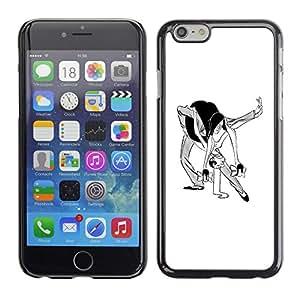 """For Iphone 6/6S (4.7 INCH) Case , Danza Hombre Mujer Caricatura del arte divertido"""" - Diseño Patrón Teléfono Caso Cubierta Case Bumper Duro Protección Case Cover Funda"""