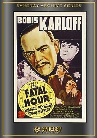 The fatal hour Boris Karloff vintage movie poster print