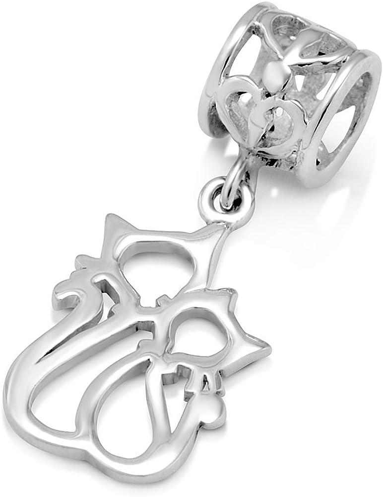 Footprints In The Sand Cross Bead Charm Fits European Bracelets /& Necklace