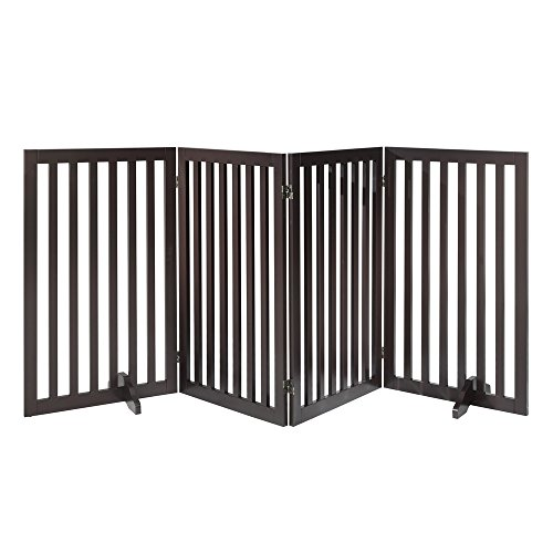 Total Win Freestanding Wooden Pet Gate, Dog Fence with 2PCS Support ...
