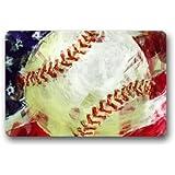 "Novelty Design Custom Baseball Doormat 23.6""(L) x 15.7""(W)-M1556"