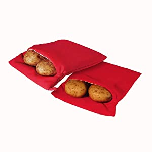 (2 Pack) Microwave Potato Cooker Bag- Potato Express Pouch, Perfect Potatoes Just in 4 Minutes!