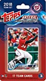 Washington Nationals 2018 Topps Factory Sealed Special Edition 17 Card Team Set with Bryce Harper and Max Scherzer Plus