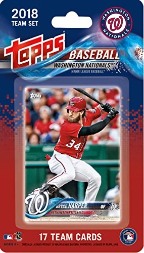 - Washington Nationals 2018 Topps Factory Sealed Special Edition 17 Card Team Set with Bryce Harper and Max Scherzer Plus