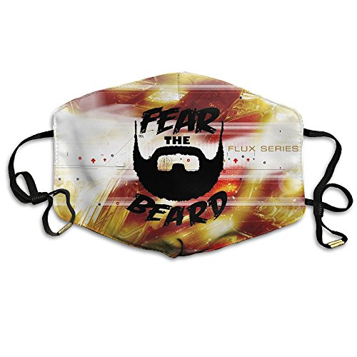 Fear The Beard 3D Print Protective Facial Mask Fashion Respirator For Women Man