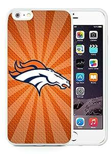 iPhone 6 Plus Case,Denver Broncos 05 White For iPhone 6 Plus 5.5 Case