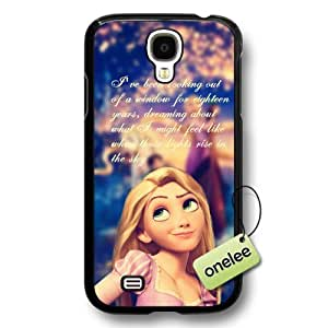 Cartoon Movie Disney Tangled Princess Rapunzel Hard Plastic Phone Case & Cover for Samsung Galaxy S4 - Black