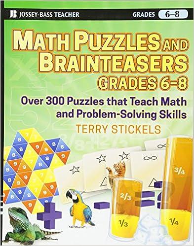 Amazon.com: Math Puzzles and Games, Grades 6-8: Over 300 ...