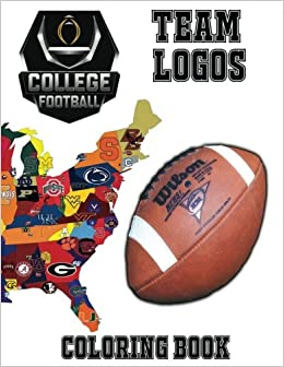 College Football Team Logos Coloring Book: This unique coloring book ...