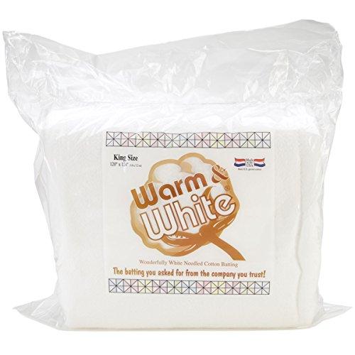 Warm Company Batting 120-Inch by 124-Inch Warm and White Cotton Batting, King by Warm Company Batting