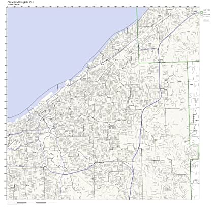 Amazon Com Cleveland Heights Oh Zip Code Map Not Laminated Home