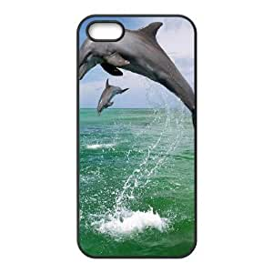 Cool Painting Dolphin Custom Cover Case for Iphone 5,5S,diy phone case case519271