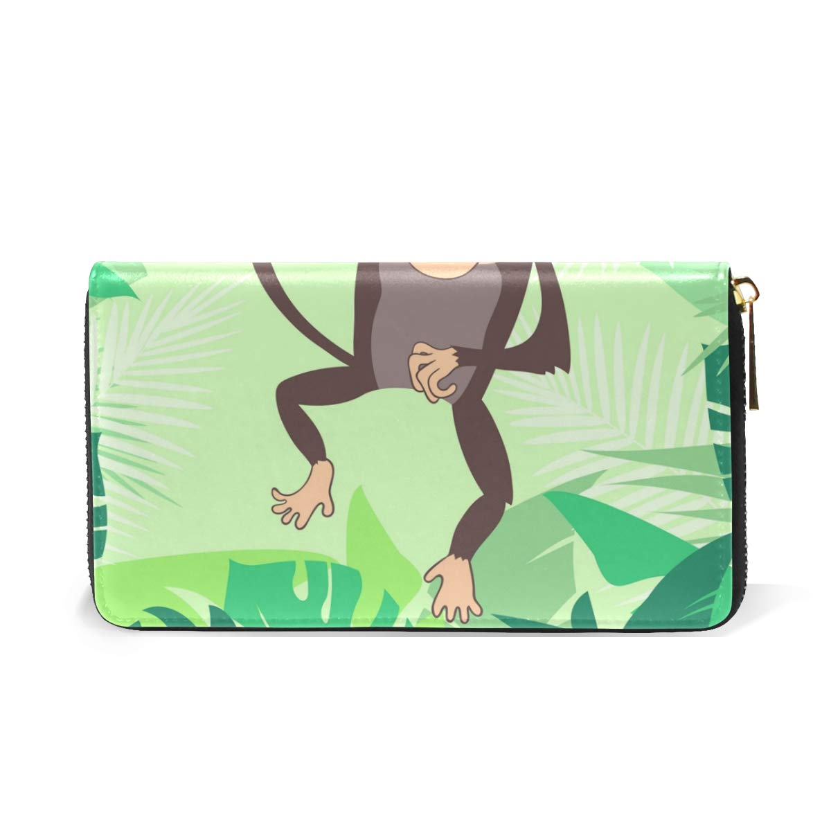 Amazon.com: Naughty Monkey Leaf - Monedero de piel auténtica ...