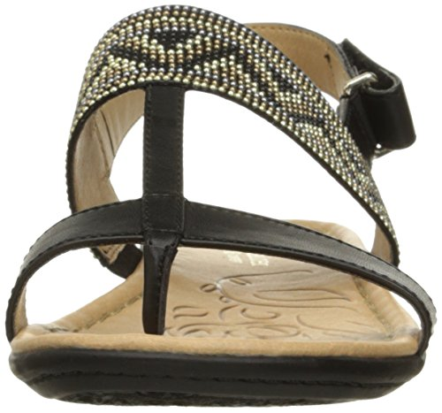 Sandal Women's Black Flat Wheeler Naturalizer xzqwTz