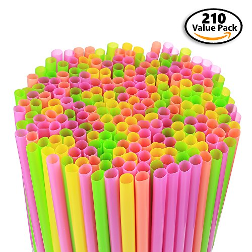 210-pack-large-milkshake-smoothie-slush-straws-disposable-jumbo-extra-wide-thick-shake-long-plastic-