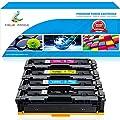 True Image 4Pack 202A 202X CF500A CF500X Compatible for HP 202A 202X MFP M281fdw M281cdw M254dw Toner Cartridge HP Color Laserjet Pro MFP M281 M281fdw M281cdw M254dw M254dn M254nw M280nw Printer