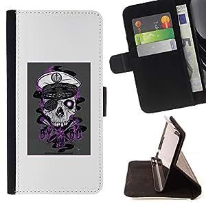 Momo Phone Case / Flip Funda de Cuero Case Cover - Cráneo del pirata;;;;;;;; - Sony Xperia Z2 D6502