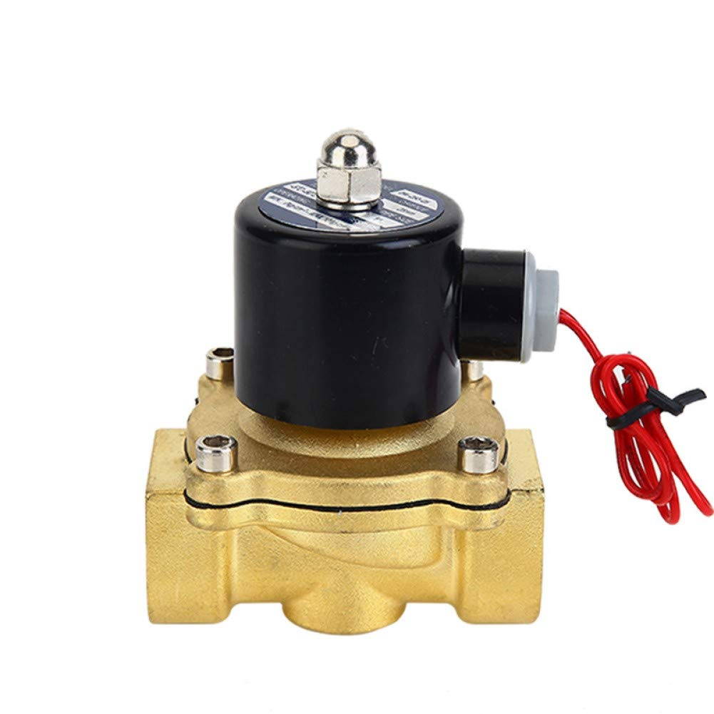 Beduan 1//2 Brass Electric Solenoid Valve Normally Closed Air,Water,Oil AC 110V