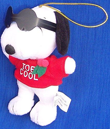 SNOOPY JOE COOL Vintage CHRISTMAS ORNAMENT - Glass Ornament Snoopy