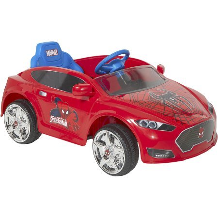 Spider-Man 6V Speed Electric Battery-Powered Coupe Ride-On l Max Speed of 2.5 MPH