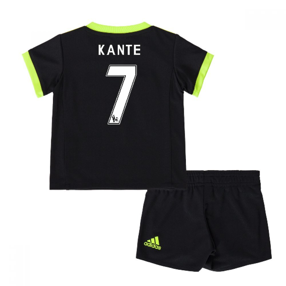 2016-17 Chelsea Away Mini Kit (Kante 7) B077WNKK1MBlack 3-4 Years