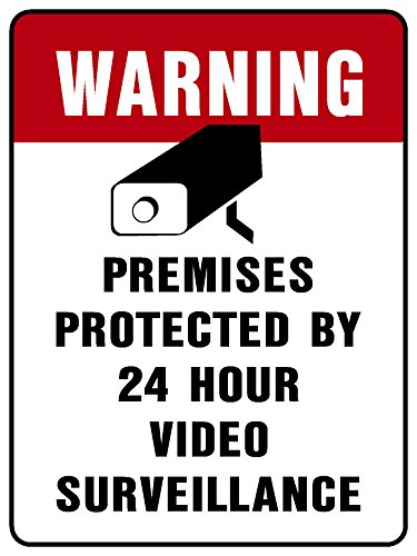 VIDEO SURVEILLANCE SIGN Property Protected by 24 Hour, Best Gadgets