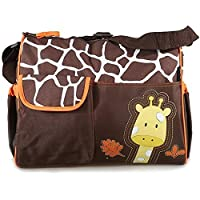 Accessotech Waterproof Baby Diaper Nappy Mummy Changing Handbag Shoulder Bag with Mat Travel (Giraffe Orange)
