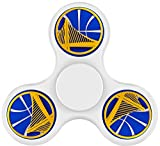 Basketball Logo Warriors-Golden State Fidget Spinner High Speed Stainless Steel Bearing Focus ADHD Anxiety Relief Toys White
