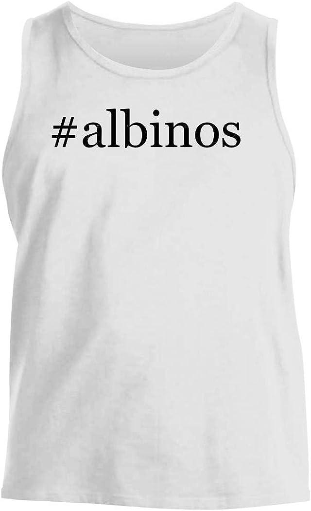 #Albinos - Men'S Hashtag Comfortable Tank Top, White, X-Large