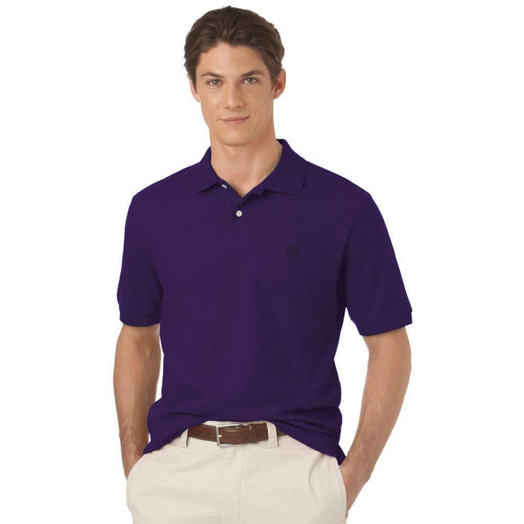 Chaps Mens Core Knit Short Sleeve Polo