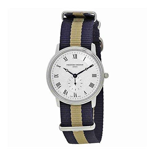 Frederique Constant Slimline Silver Dial Nylon Strap Men's Watch FC235M4S6NVYBGE