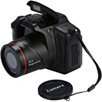 BEESCLOVER 16MP HD 1080P 2.4 Inch TFT Screen Anti-Shake Digital SLR Camera with Built-in Microphone Black