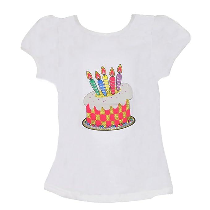 Amazon.com: Tarta de cumpleaños con velas playera: Clothing