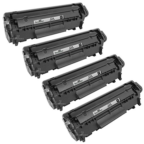 Speedy Inks - 4PK Remanufactured Replacement for HP 12A Q2612A Black Laser Toner Cartridge for use in HP LaserJet 1012, 3015, 3020, 3030, 1010, 1020, 1022, 1022n, 1022nw, 1018, 3050, 3052, 3055, M1319