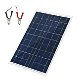 30 Watts 12 Volts Solar Panel Kit Portable 30W Solar Panel Battery Charger Backup for Car Boats Caravans, Motorhomes Yachts RVs