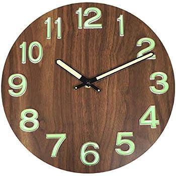Amazon Com Lucor Night Light Function Wall Clock 12 Inch