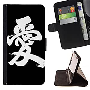 Devil Case- Style PU Leather Case Wallet Flip Stand Flap Closure Cover FOR Apple iPhone 4 4S 4G- Love World