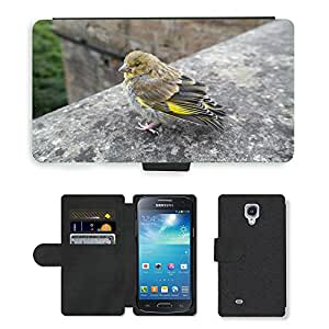 Hot Style Cell Phone Card Slot PU Leather Wallet Case // M00115716 Greenfinch Bird Fink // Samsung Galaxy S4 Mini i9190