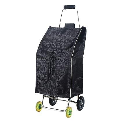 4949fab30c57 Amazon.com: SXRNN Folding Shopping Trolley Waterproof Grocery Cart ...