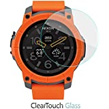 BoxWave Nixon Mission Screen Protector, [ClearTouch Glass] 9H Tempered Glass Screen Protection for Nixon Mission