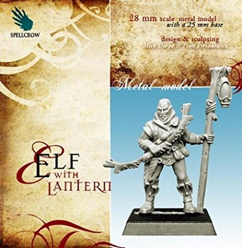 28mm Fantasy Miniatures: Elf with Lantern Warhammer Fantasy Wood Elves